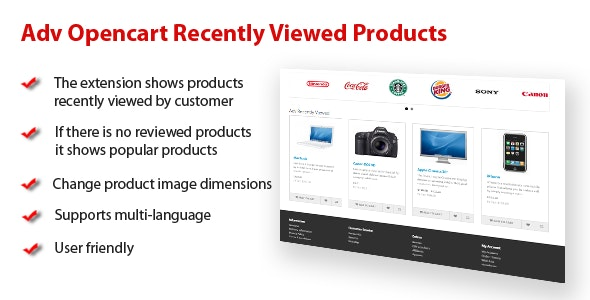 Adv Opencart Recently Viewed Products - CodeCanyon Item for Sale