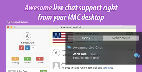 Awesome Live Chat Desk OS X