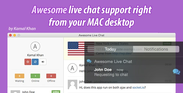 Awesome Live Chat Desk OS X - CodeCanyon Item for Sale