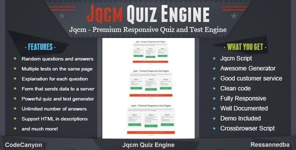 Jqcm - Premium Responsive Quiz Engine - CodeCanyon Item for Sale
