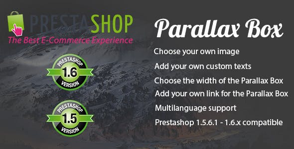 Prestashop Parallax Box
