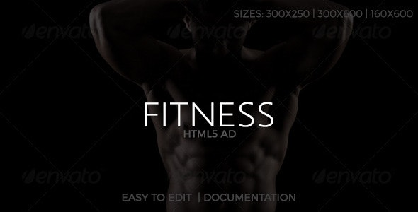 Fitness HTML5 Ad - CodeCanyon Item for Sale
