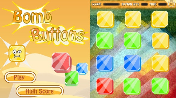 Bomb Buttons Game With AdMob - CodeCanyon Item for Sale