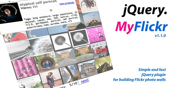 jQuery.MyFlickr - CodeCanyon Item for Sale