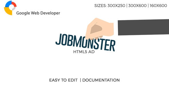 JobMonster HTML5 Ad - CodeCanyon Item for Sale