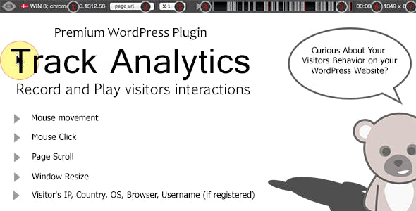 TrackAnalytics WP Plugin - Record User Behavior