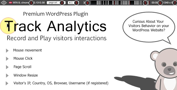 TrackAnalytics WP Plugin - Record User Behavior  - CodeCanyon Item for Sale