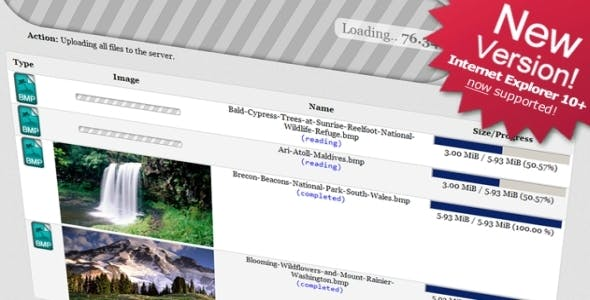 The AwsmUploader: Unlimited Uploads w/o Flash!