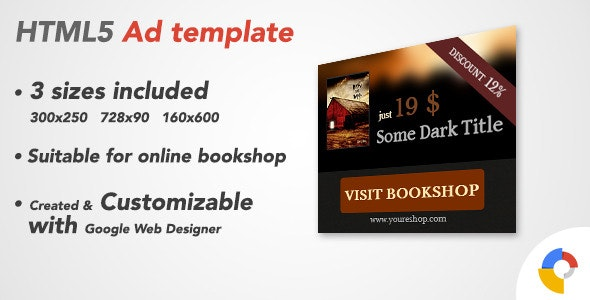 Ad HTML5 Template | Bookshop - CodeCanyon Item for Sale