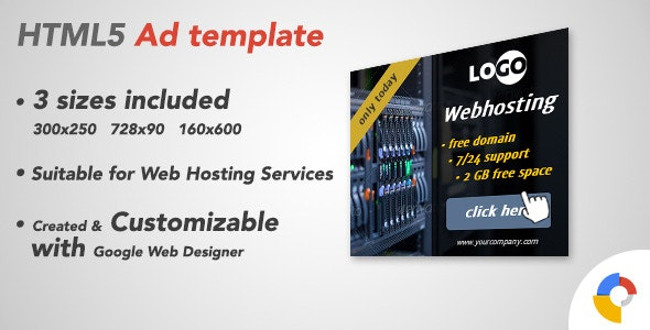 Ad HTML5 Template | Webhosting - CodeCanyon Item for Sale
