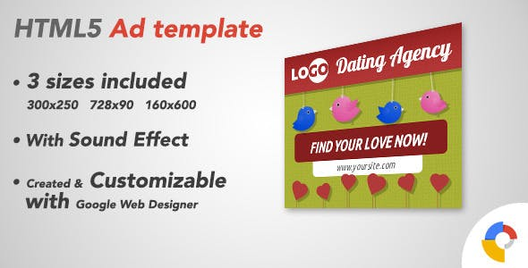 Ad HTML5 Template | Dating