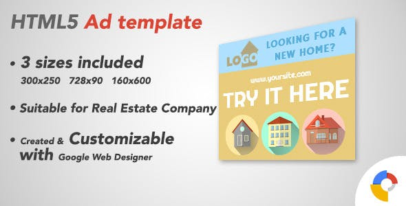 Ad HTML5 Template | Real Estate