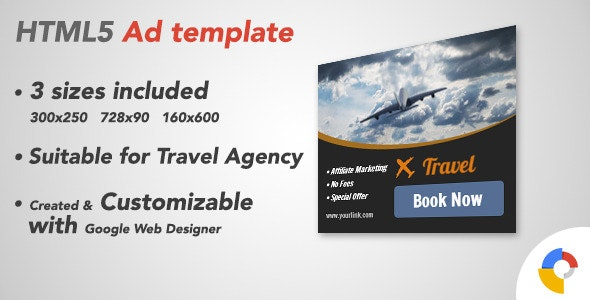 Ad HTML5 Template | Traveling - CodeCanyon Item for Sale