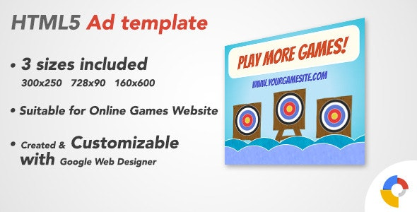 Ad HTML5 Template | Online Games 2 - CodeCanyon Item for Sale