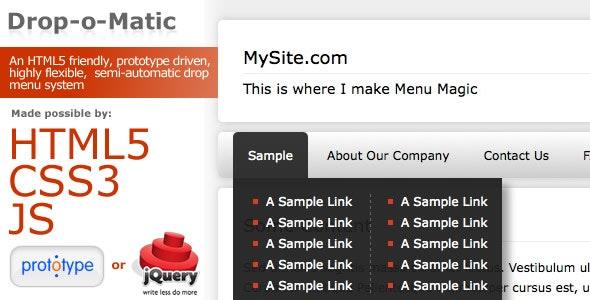 Drop-o-Matic | HTML5 Friendly Drop Menu - CodeCanyon Item for Sale