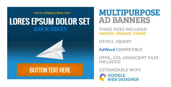 Multipurpose GWD HTML5 Ad Banner 2