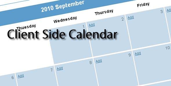 Client Side Calendar
