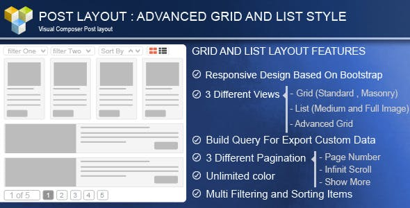 Advance Post Grid/List with custom filtering for Visual Composer        Nulled