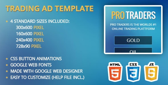 Trading / Finance Ad Template - CodeCanyon Item for Sale