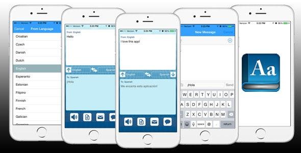 iPhone Translation App Template (reskinnable) - CodeCanyon Item for Sale