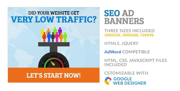 SEO Data Traffic GWD HTML5 Ad Banner - CodeCanyon Item for Sale