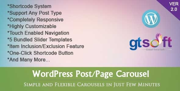 WordPress Post-Page Carousel by global-trend | CodeCanyon