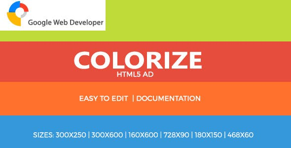 Colorize Multipurpose HTML5 Ad