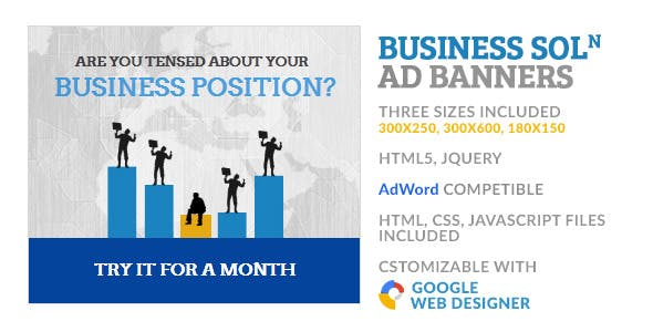 Business Solution Corporate GWD HTML5 Ad Banner