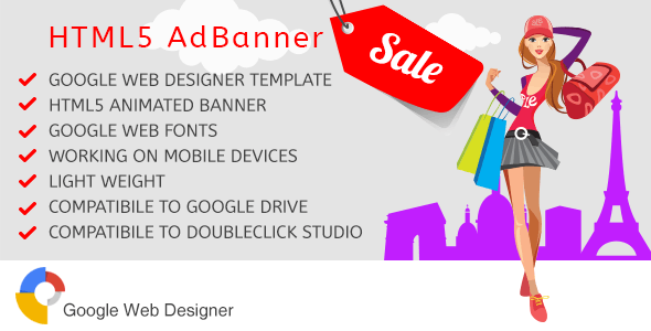 Sale - Ad Banner Template - Google Web Designer - CodeCanyon Item for Sale