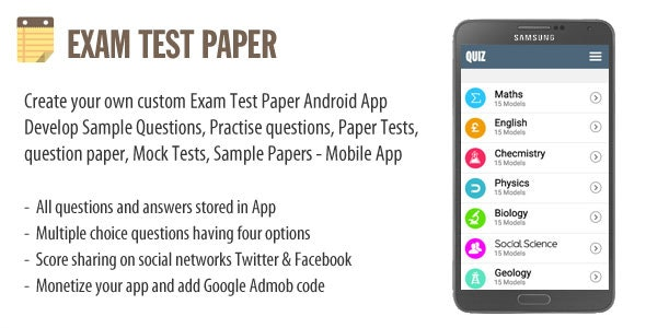 Exam Test Paper by wpnova | CodeCanyon
