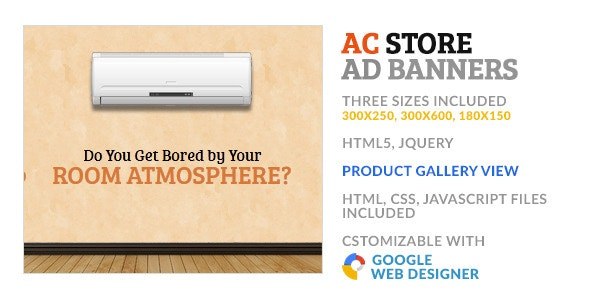 Air Cooler AC Store GWD HTML5 Ad Banner - CodeCanyon Item for Sale