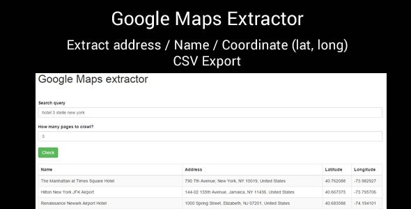 Google Maps Extractor - CodeCanyon Item for Sale