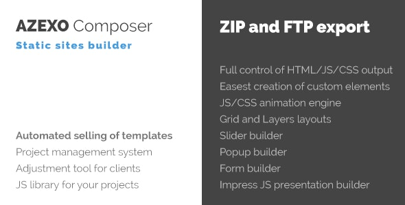 Azexo Composer Site Builder for HTML Templates - CodeCanyon Item for Sale