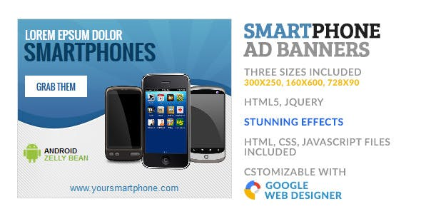SmartPhone Store GWD HTML5 Ad Banner