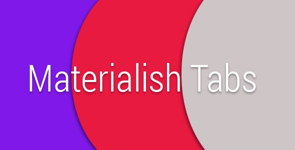 Materialish Tabs - CodeCanyon Item for Sale