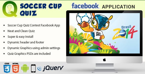 Facebook Soccer Cup Quiz Contest Application