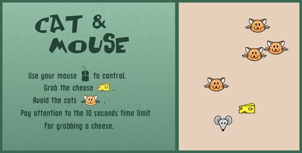 Cat & Mouse - HTML 5 Canvas Game