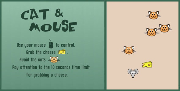 Cat & Mouse - HTML 5 Canvas Game - CodeCanyon Item for Sale