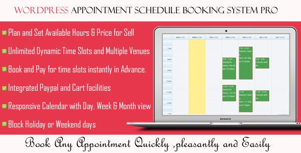 Wordpress Appointment Schedule Booking System Pro - CodeCanyon Item for Sale