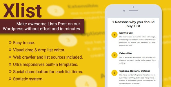 Xlist - Multi-Purpose WordPress listicle Maker - CodeCanyon Item for Sale