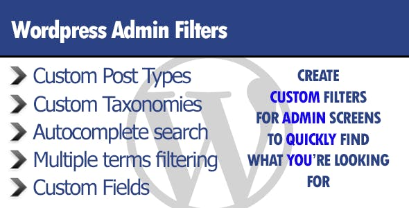 Wordpress Admin Filters