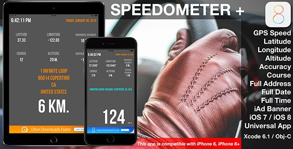 Speedometer for iOS 8 - CodeCanyon Item for Sale