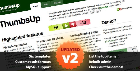 ThumbsUp - CodeCanyon Item for Sale
