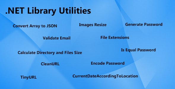 NET Utilities Library - CodeCanyon Item for Sale