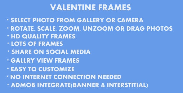 Valentine Frames - CodeCanyon Item for Sale