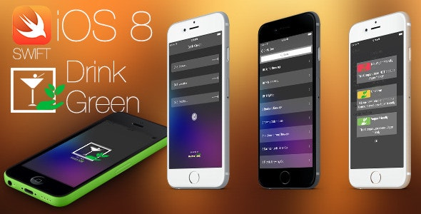 Drink Green - iOS9 Swift2 Project - Universal Build - CodeCanyon Item for Sale