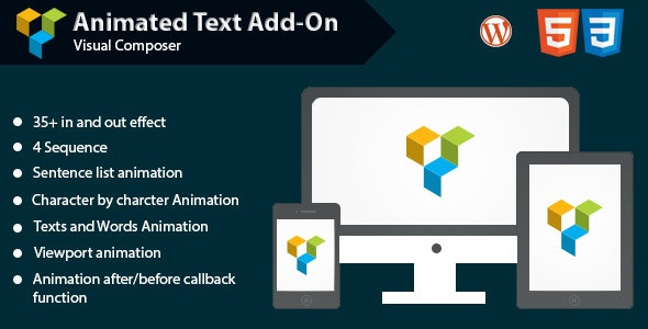 Animated Text Add-on for WPBakery Page Builder (formerly Visual Composer) - CodeCanyon Item for Sale