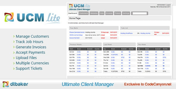 Ultimate Client Manager - Lite Edition - CodeCanyon Item for Sale