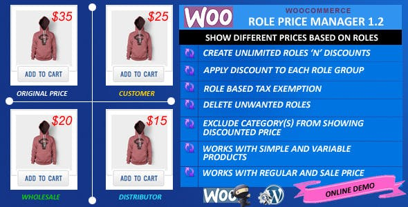 WooCommerce Role Price Manager