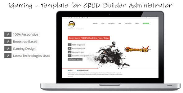 iGaming - Template for CRUD Builder Administrator